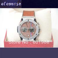 1Pcs Free Shipping Leather  Watch quartz  Calendar Mens Sport Luxury Watches