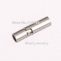 Free Shipping Wholesale 50pcs/lot Small Copper Swivel Spring Double Insurance Silver Barrel Screw Clasps For Bracelets PMC-M075