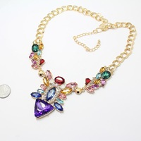 Fashion triangle acrylic necklace for women ladies