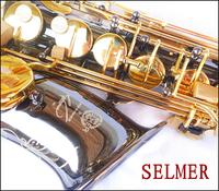 FREE SHIPPING EMS Senior French brand  Salma 54 selmer alto saxophone e musical instrument black ni-au professional grade