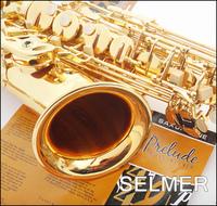 FREE SHIPPING EMS Senior French brand Salma 54 selmer alto saxophone e musical instrument electrophoresis gold double key