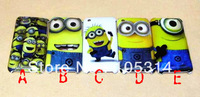 20PCS New Cute Despicable Me Minions Hard Back cell phone cover case for iPhone 3 3GS Free Shipping