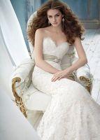 New Sweetheart Mermaid White/Ivory Lace Wedding Dress Bridal dress custom size