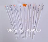 15Pcs/Set acrylic Nail Art Brush Pens set, nail design painting pen for nail 3d art Brushes, dotting pen tool, manicure set