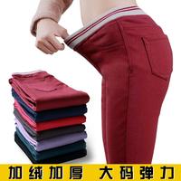 2014 Direct Selling Promotion Freeshipping Mid Denim Winter Women Thickening Skinny Pencil Pants Elastic Waist Legging Plus Size