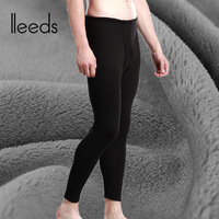 Male thickening warm pants plus velvet 100% cotton tights male cotton wool pants 100% cotton slim legging autumn and winter