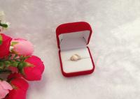 High Quality Red Velvet Jewelry Box Ring Box Gift Box Ring Storage Case Jewlry Box Retail