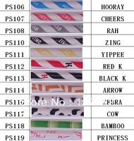 (1200pcs/lot)  12 colours mix holiday zebra bamboo princess Paper Straws Wholesale Paper Drinking Straws  DHL/EMS/FEDEX