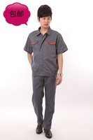 20sets [Free ship] Tooling uniform work wear male set workwear work uniforms short-sleeve  factory uniforms full sets