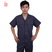 20sets [Free ship] Half sleeve work wear workwear short-sleeve male set summer work clothes tooling  factory uniforms full sets