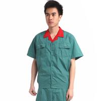 20sets [Free ship] Summer short-sleeve work wear workwear work wear set work clothes mechanic work clothes full set