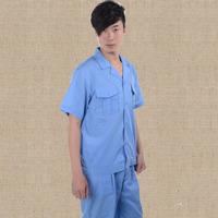 20sets [Free ship] Summer work wear short-sleeve set work wear overalls  factory uniforms full sets