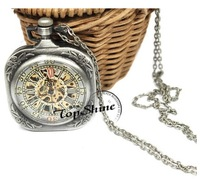 The Palace Antique Mechanical Watches Sliver Necklace Watch