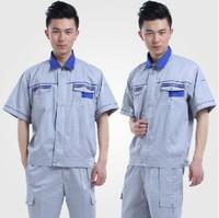 20sets [Free ship] Short-sleeve work wear set male summer work wear set workwear short-sleeve mechanic work clothes full set