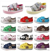 Promotions free shipping Boy&girl Canvas Shoes kids Cute Leisure Sports Shoes Sneakers Board Shoe Rubber Bottom size 23-35