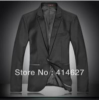 Free Shipping Men's Fashion Big Size Black Suit 2013 Autumn And Winter New Hot-selling Men Blazer M L XL XXL 3XL 4XL 5XL 6XL