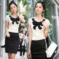 Hot selling Fashion plaid lock women's messenger bag chains shoulder bag black and white  women handbags