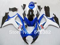 Injection Mold Fairing kit for GSXR600 750 06 07 GSXR600 GSXR750 GSX-R600 750 K6 2006 2007 white blue black Fairings set SB3