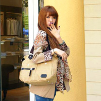 Hot selling Casual bag large capacity backpack fashion canvas women's handbag messenger bag 203  women handbags