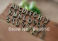 50set 1300pcs/bag 12*6MM Metal/Alloy Antique Bronze letter Charms Pendant DIY Jewelry Accessory