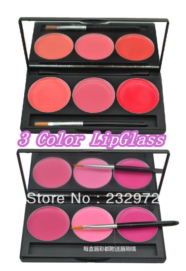 3 Color Makeup LipGlass(China (Mainland))