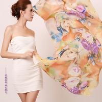2013 scarf autumn and winter women's design silk long silk scarf mulberry silk scarf cape dual