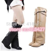 discount wholesale 2013 women pumps platform red/blue/black sole flock high heels size 40 14cm drop ship