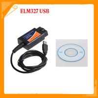 Wholesales OBD/OBDII scanner ELM 327 car diagnostic interface scan tool ELM327 USB FREE SHIPPING