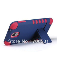 For Samsung Galaxy Note 3 N9000 Stand Hybrid Case, PC With Silicon, 3 In 1 Style