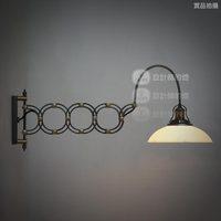 Free shipping Luxury Loft rh american-style glass retractable scissors wall lamp