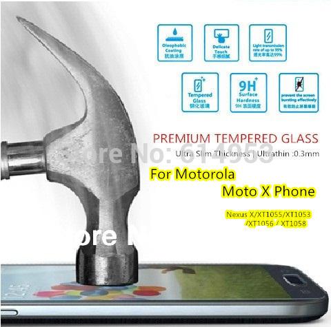 For Motorola Moto X Phone XT1058 , Original Magic Premium Tempered Glass HD Film Screen Protector Anti-Fingerprint Ultrathin(China (Mainland))