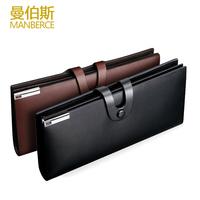 men genuine leather brand black hasp business wallet cowhide long design wallets clutch bag mens multi credit card purse wallet