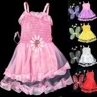 Wholesale 10pcs/set Child costume performance props dance dress faiy wings to decoration skirt set  ,free shipping