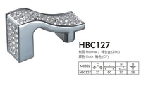 10 pcs  free shipping modern crystal with zinc furniture handles polished chrome gold HBC127
