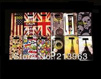 Sample Retail UK USA flag skull head Effiel tower tape  plastic hard case cover for LG OPTIMUS L7 P700 P705
