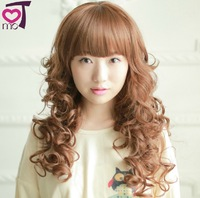 28'', 230g, long curly synthetic hair full lcae wigs, cosplay wig, blonde wig, 1pcs