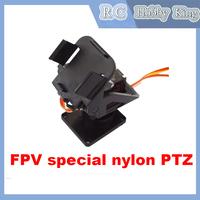 PT Pan/Tilt Camera Platform Anti-Vibration Camera Mount for Aircraft FPV dedicated nylon PTZ for SG90 2014 Free shipping