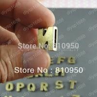 20set 520pcs/bag 14*11*5MM Hole size:11*2MM Metal/Alloy Antique Bronze letter beads with hole Charms ZAKKA DIY Necklaces