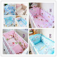 100% Cotton Fabrics Baby Bedding Sets,Easy and Convenient Installation,Baby Crib Cot Bedding,Optional Kawaii Colors Bedding Sets