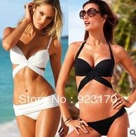 Crazy promotion beach bikini sexy bandage push up bandeau swimwear women 2014 swimsuit the bathing suit beachwear Y011