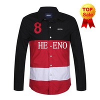 High Quality Casual Men Shirt Long Sleeve Cotton Shirt Mens Shirts Top Brand Plaid Men Dress Shirt
