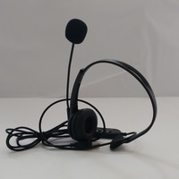 USB skype phone headset single for PC   earphone microphone  can mute mic and speaker adjust volume   IU1008U