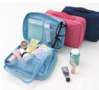 Factory direct sale multi pocket, travel necessity portable organizer handbag package, waterproof cosmetic storage Bag Package