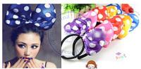 Dot bowknot Hairband tie hair hand hoop tools Maker bangs forehead decoration head band CN post