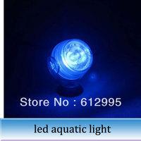 1pc LED aquatic lamp diving lighting aquarium fish tank 1 w tank night light BLUE