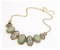 Vintage Stone Necklace Women Pendant Bib Vintage Punk Party Wedding Hot Chic Chain Out Free Shipping