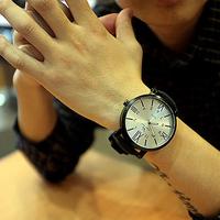 Hot Sale New Korean Fashion Brief Big Round Dial Men Women Quartz Watch Casual Retro Unisex Students Wristwatch #L05505