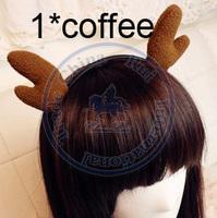 deer horn cute Hairband tie hair hand hoop tools Maker bangs forehead decoration head band CN post