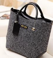 2014 winter new retro trend blending woolen woolen bag laptop shoulder bag woman bag fashion bag