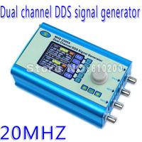 Free shipping High Precision 2.4'' TFT Digital Dual-channel DDS Signal Generator Arbitrary waveform generator 200MSa/s 0-20MHz